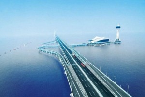 海水这么深跨海大桥的桥墩是怎样在海里打下去的看完大开眼界